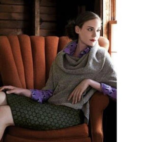 """Anthropologie Dresses & Skirts - Anthropologie """"Maeve"""" Goban Dot Black Pencil Skirt"""
